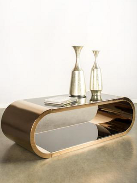 PIA BRASS COFFEE TABLE