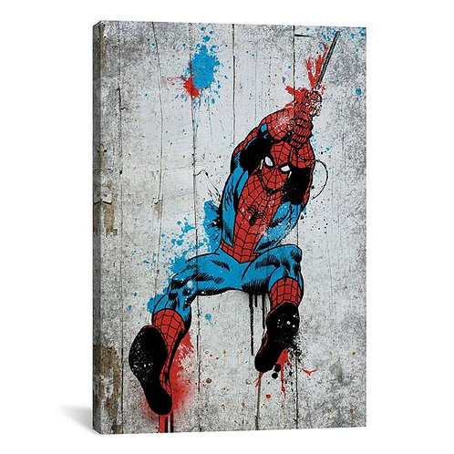 Marvel Comic Book: Spider-Man Spray Paint by Marvel Comics Canvas Print