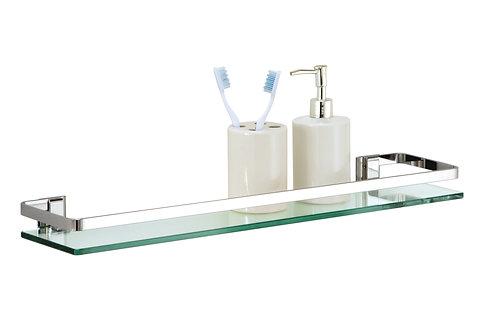 Glass Shelf with Chrome Finish & Rail