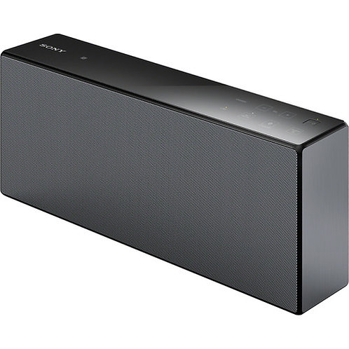 Sony - Portable Wi-Fi and Bluetooth Speaker - Black