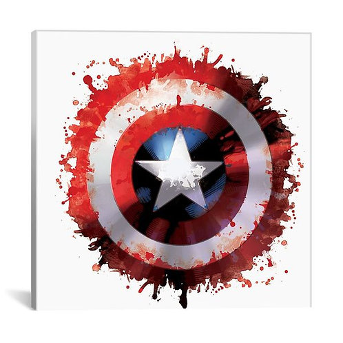 Captain's America Shield by Marvel Comics Canvas Print