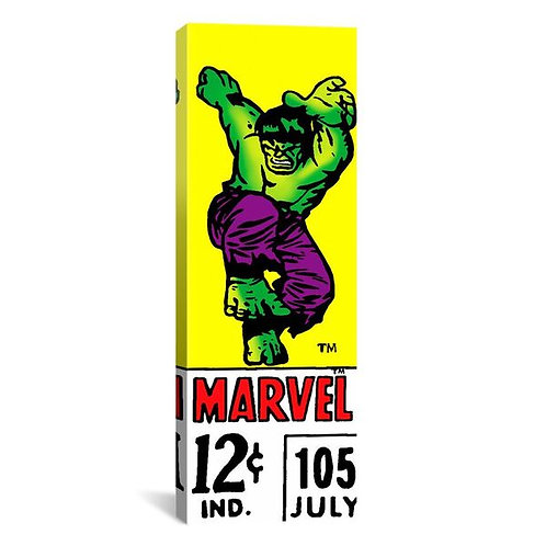 Comics (Retro) - Book Hulk Price Tag Panoramic  by Marvel Comics Canvas Print