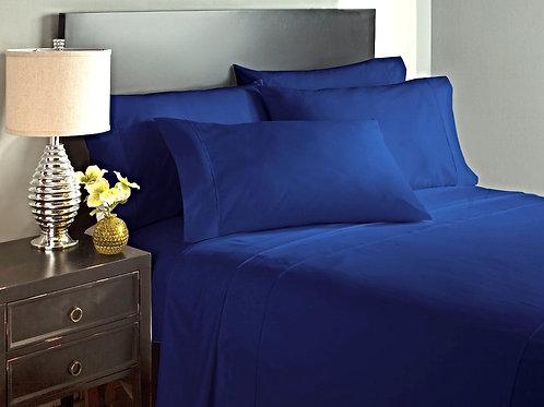 Navy Blue Bed Sheet Set