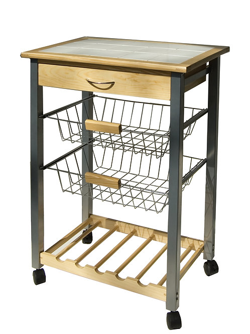 Kitchen Cart with Baskets