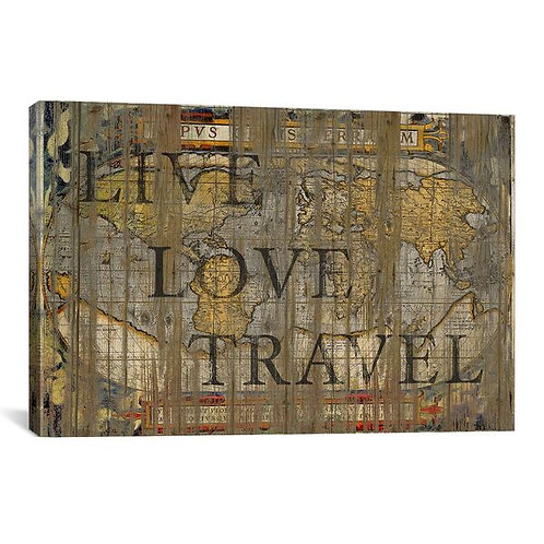 Live Love Travel by Diego Tirigall Canvas Print