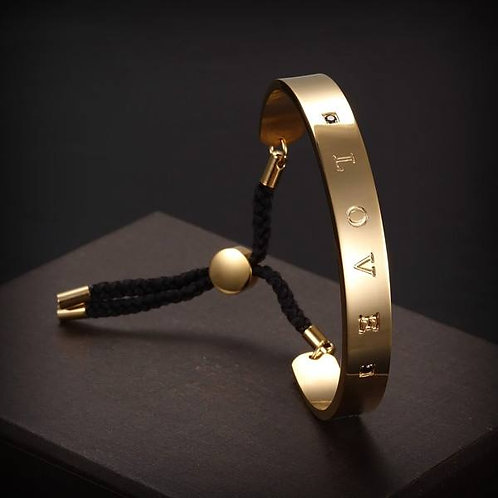 Love Bracelet - Blk/Gold
