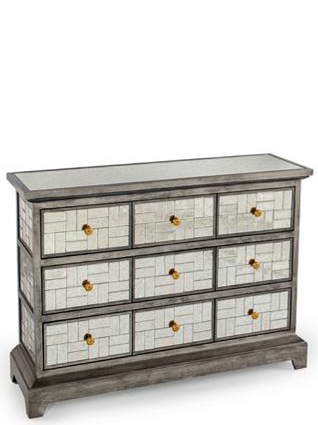 MC KENZIE MIRRORED CONSOLE CHEST