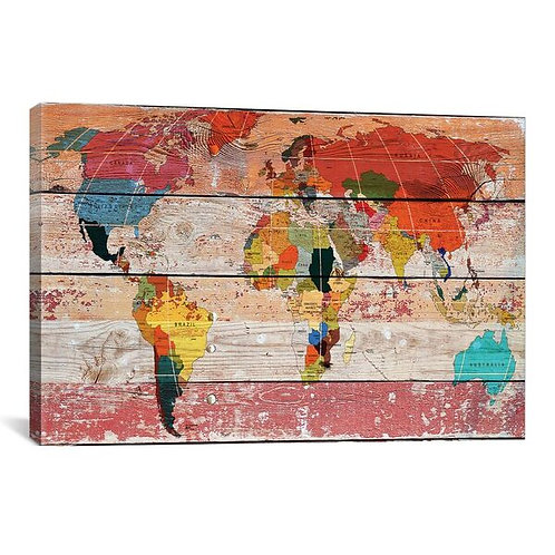 World Map by Irena Orlov Canvas Print