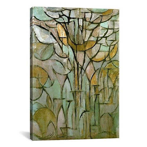 Tree, 1912 by Piet Mondrian Canvas Print