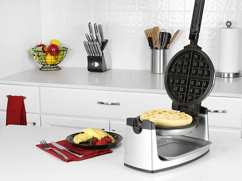 Stainless Steel Rotary Belgian Waffle Make