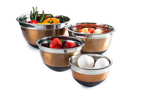 (4) Piece Stainless Steel Mixing Bowls