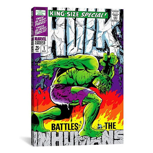 Marvel Comic Book Hulk (inhumans) Issue Cover #1 by Marvel Comics Canvas Print