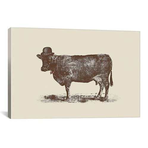 Cow Cow Nut by Florent Bodart Canvas Print
