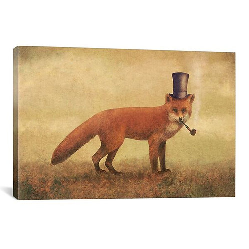 Crazy Like A Fox by Terry Fan Canvas Print