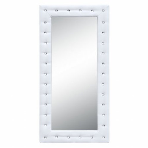 "MaxMod Tufted Mirror 36"", White"