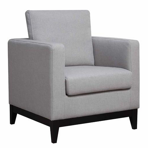 Janes Gallerie Upholstered Light Grey Linen-Like Accent Chair