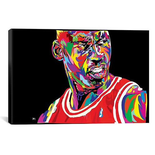 Jordan Portrait by TECHNODROME1 Canvas Print