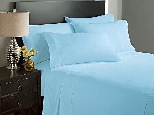 Aqua Blue Bed Sheet Set