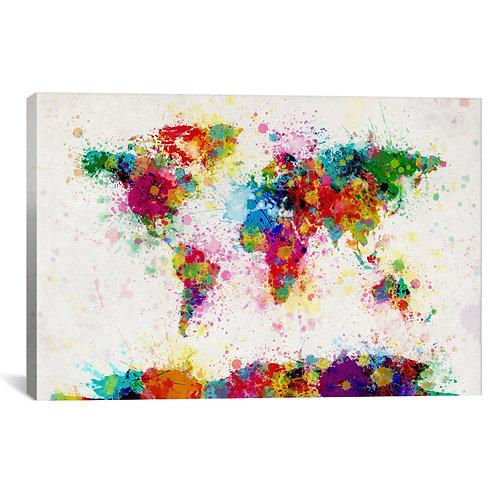 World Map Paint Drops III