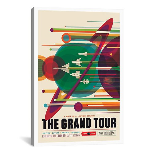 Visions Of The Future Series: The Grand Tour by NASA Canvas Print