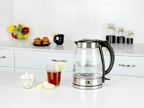 Stainless Steel 1.7 Liter Glass Water Kettle