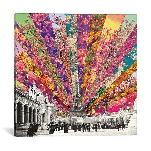 Vintage Paris by Bianca Green Canvas Print
