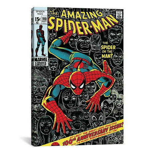 Marvel Comic Book Spider-Man Issue Cover #100 by Marvel Comics Canvas Print