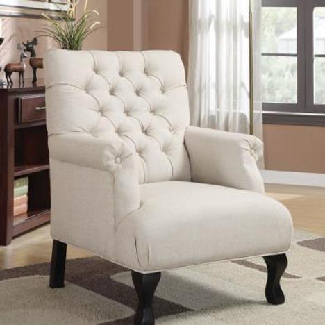 Fine Beige Accent Chair