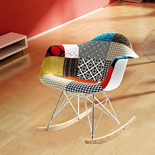 MaxMod Patterned Rocker Arm Chair