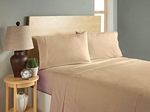 Dark Cream Bed Sheet Set