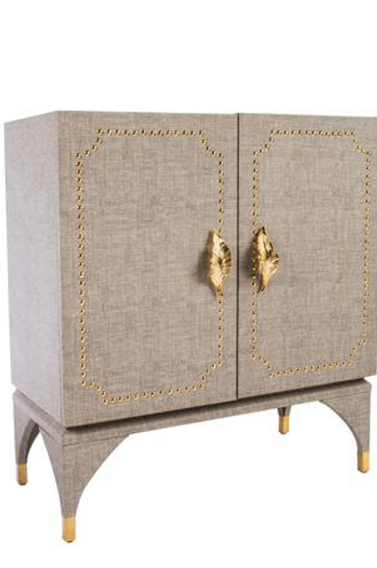 FEUILLE STUDDED CABINET