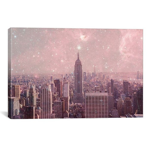 Stardust Covering New York by Bianca Green Canvas