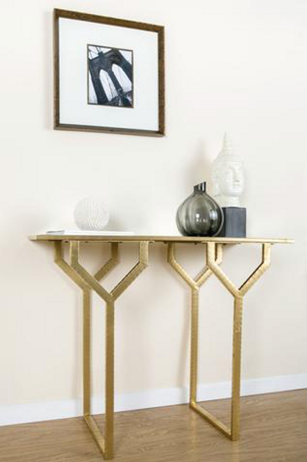 CHRISELLE TABLE WITH MIRRORED TOP