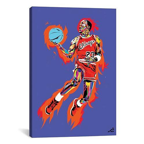 Michael Jordan (1985) by TECHNODROME1 Canvas Print