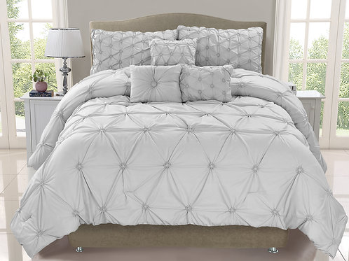 Cosmo 6-piece Smocked Comforter Set, Mist
