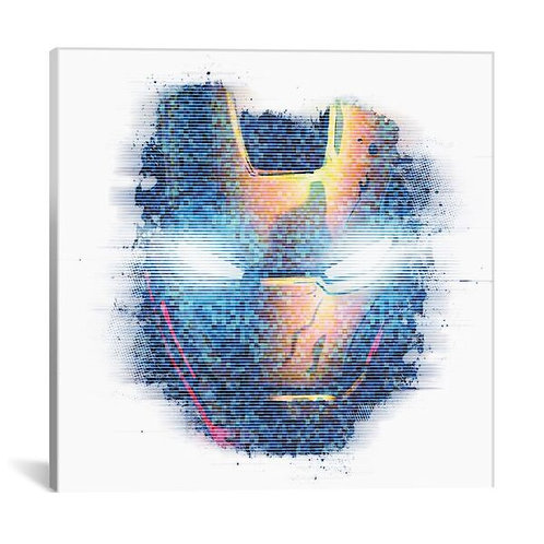 Iron Man, Digital Portrait by Marvel Comics Canvas Print