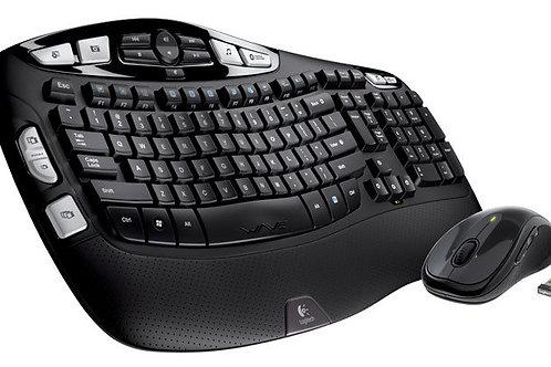 Logitech - MK550 Wireless Wave Keyboard and Mouse - Black