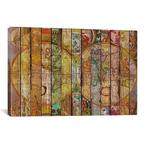 Around the World in Thirteen Maps by Diego Tirigall Canvas Print
