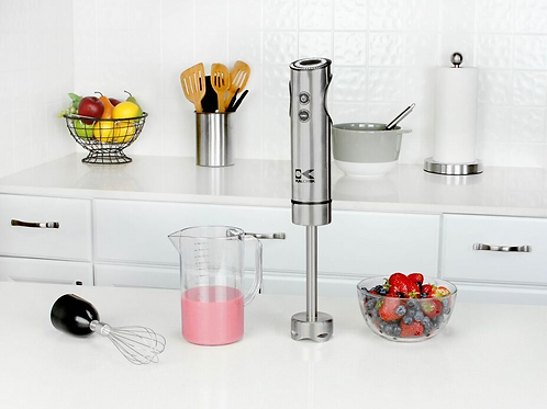Stainless Steel Stick Mixer with Measuring Cup