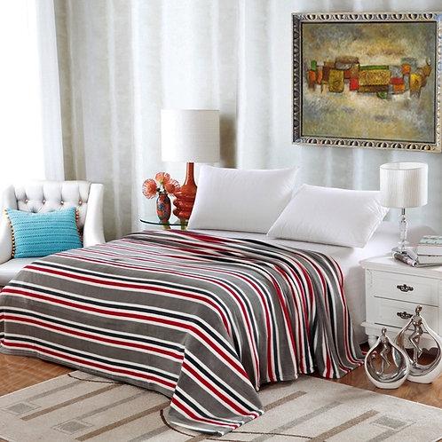 Lauren Grey Stripes Blanket