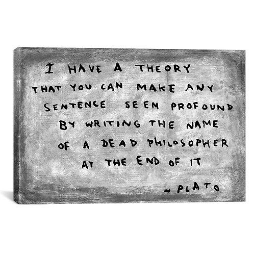 Fake Plato Quote (Newspaper Background)