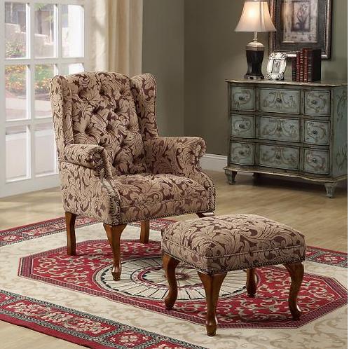 Janes Gallerie Burgundy Accent Chair