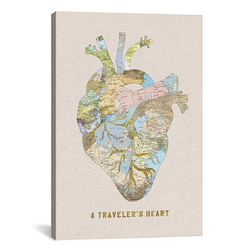 A Traveler's Heart II by Bianca Green Canvas Print