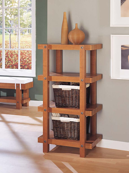 Mocha Brown 4 Tier Shelf