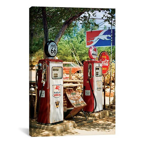 Gas Station Along U.S. Route 66 by Philippe Hugonnard Canvas Print