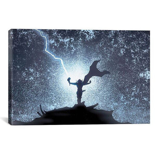 Marvel Avengers: Thor Silhouette by Marvel Comics Canvas Print