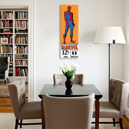 Comics (Retro) - Book Spider-Man Price Tag Panoramic  by Marvel Comics Canvas