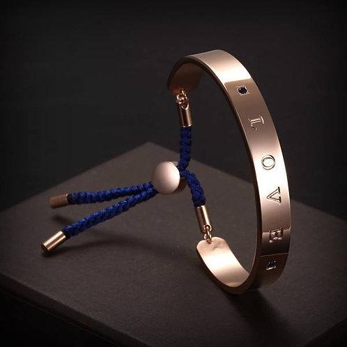 Love Bracelet - Navy/Rose