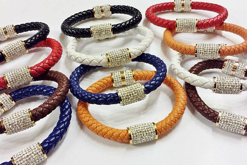 Thick Braided Bangle - (Only Orange Available)