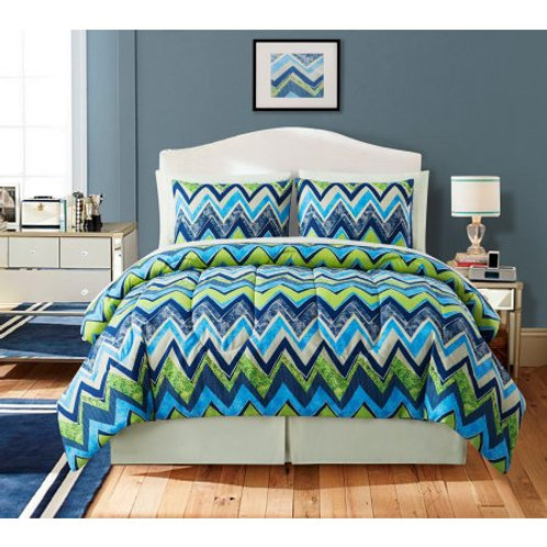 Axis 4 Piece Comforter Set - BLUE
